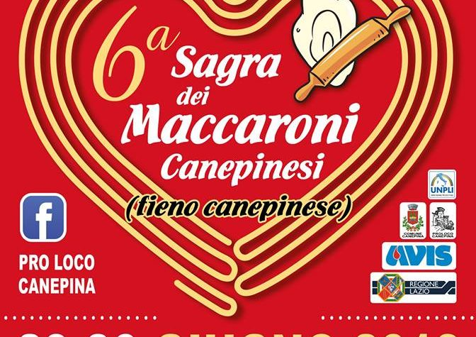 Aspettando la 6ª Sagra dei Maccaroni Canepinesi … 🍝
