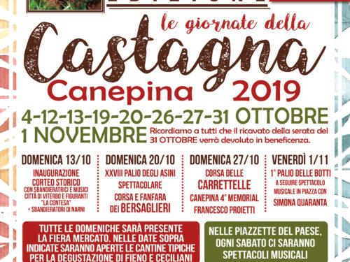 38° edizione  Le Giornate della Castagna 2019