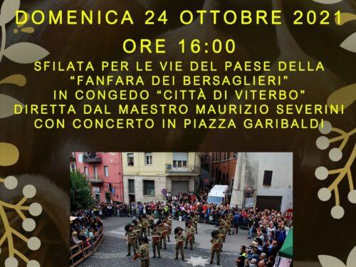 """Canepina XXXIX edizione delle Giornate della Castagna… """"Fanfara dei Bersaglieri in congedo di Viterbo""""."""